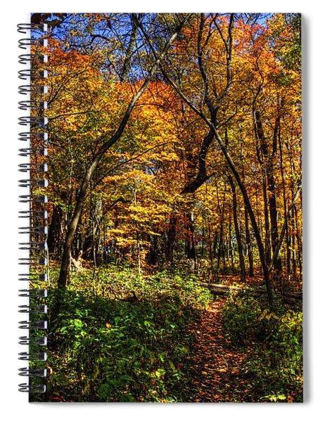 Autumn Forest Path At Johnson's Mound Spiral Notebook