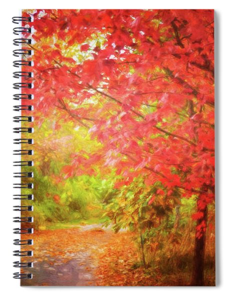 Glorious Foliage On The Rail Trail Spiral Notebook