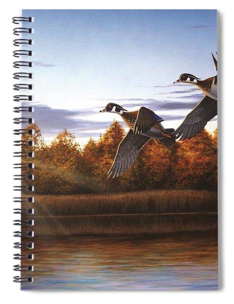 Autumn Home - Wood Ducks Spiral Notebook