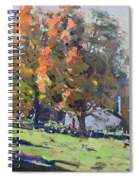 Autumn In The Farm Spiral Notebook