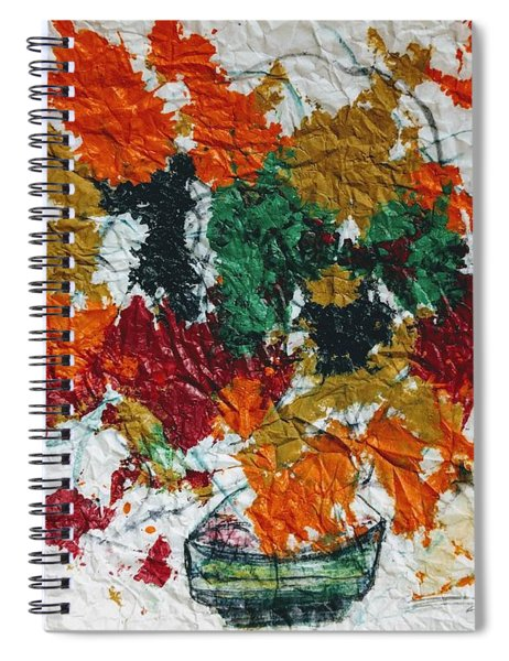 Autumn Leaves Plant Spiral Notebook