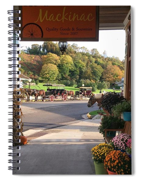 Autumn Morning On Mackinac Island Spiral Notebook