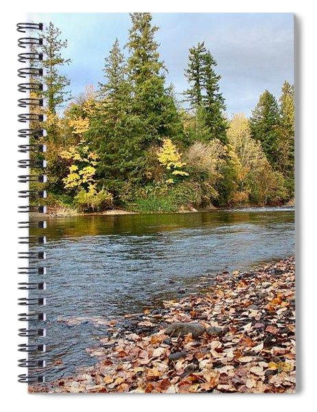 Autumn On The Molalla Spiral Notebook