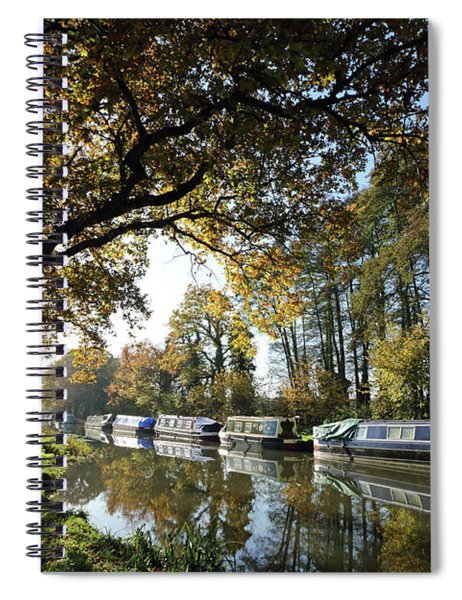 Autumn On The Wey Canal Surrey Uk Spiral Notebook