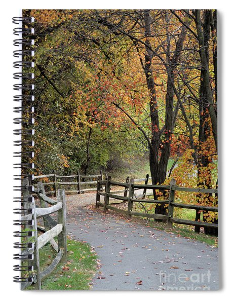 Autumn Path In Park In Maryland Spiral Notebook
