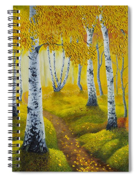 Autumn Path Spiral Notebook