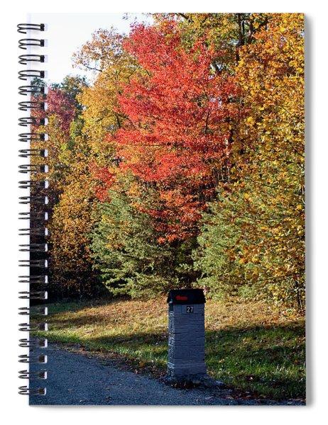 Autumn Post Spiral Notebook