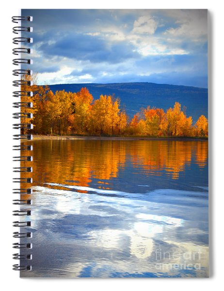 Autumn Reflections At Sunoka Spiral Notebook