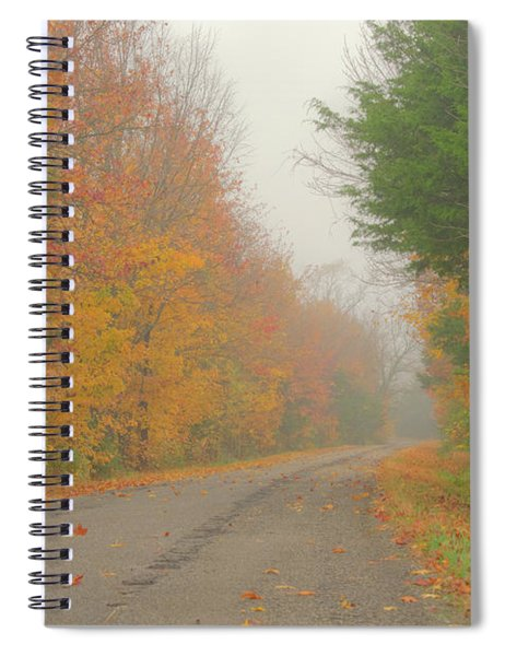 Autumn Roads Spiral Notebook