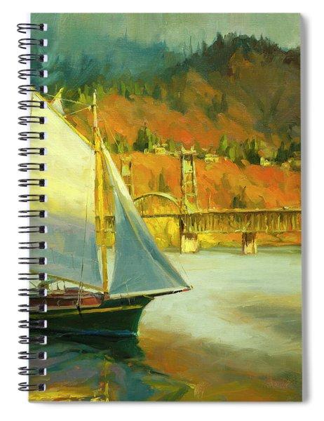 Autumn Sail Spiral Notebook by Steve Henderson