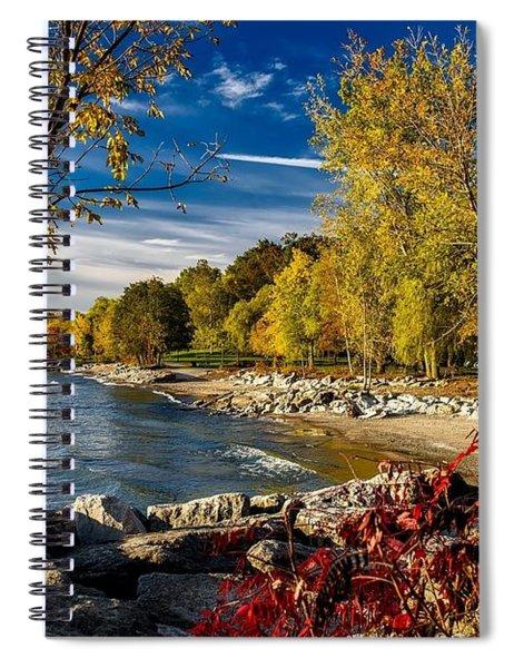 Autumn Scene Lake Ontario Canada Spiral Notebook