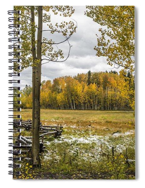 Autumn Snow Fall Spiral Notebook