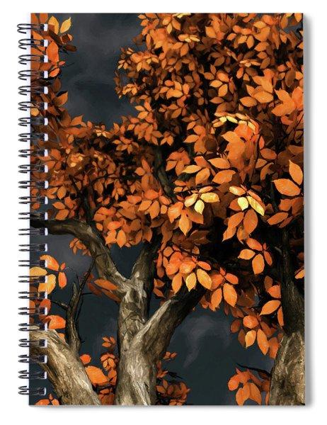 Autumn Storm Spiral Notebook