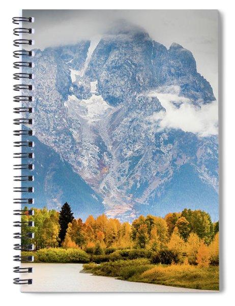 Autumn Storm Over Mount Moran Spiral Notebook