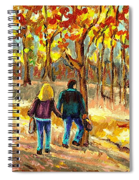 Autumn  Stroll On Mount Royal Spiral Notebook