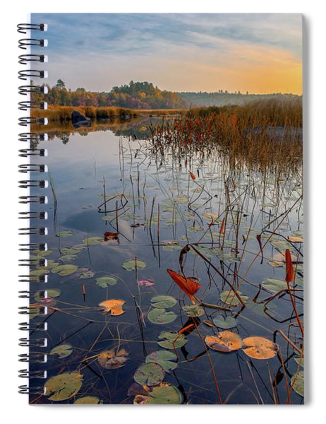 Autumn Sunrise At Compass Pond Spiral Notebook
