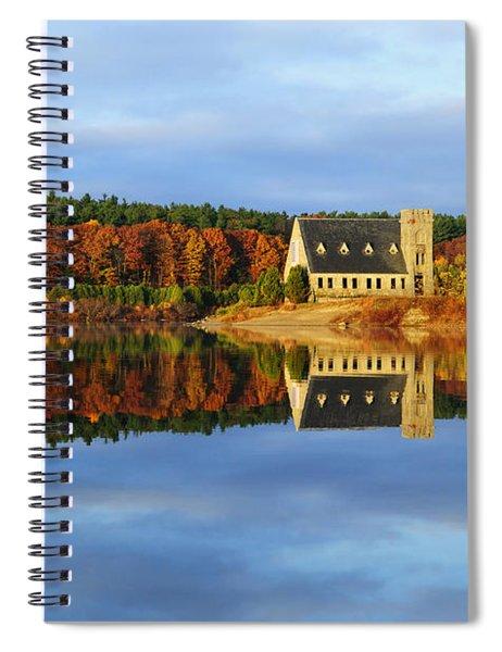 Autumn Sunrise At Wachusett Reservoir Spiral Notebook