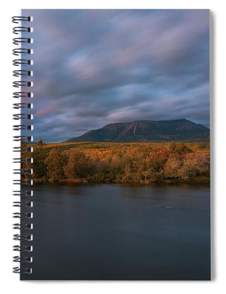 Autumn Sunset At Mount Katahdin Spiral Notebook