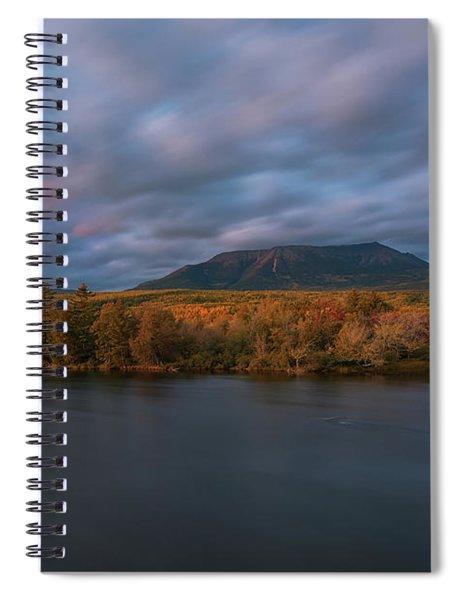 Autumn Sunset At Mount Katahdin Spiral Notebook