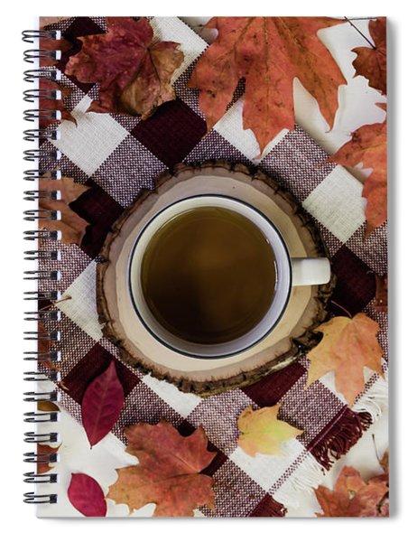 Autumn Tea Time Spiral Notebook