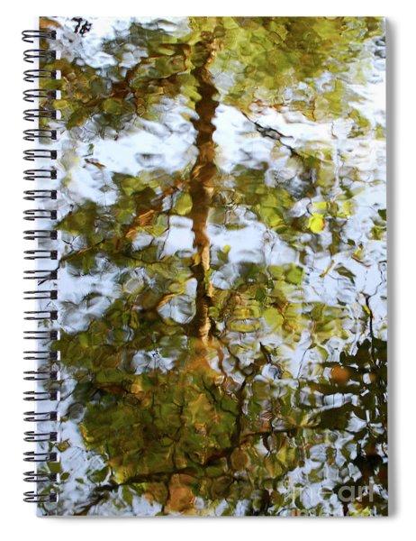 Autumn Tree Reflection Spiral Notebook