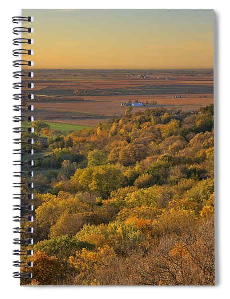 Spiral Notebook featuring the photograph Autumn View At Waubonsie State Park by Edward Peterson