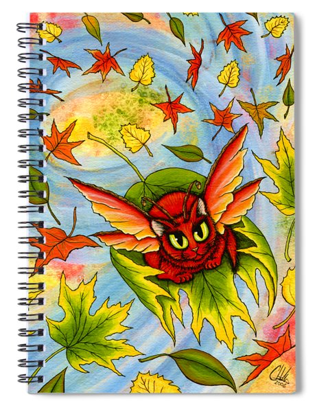 Autumn Winds Fairy Cat Spiral Notebook