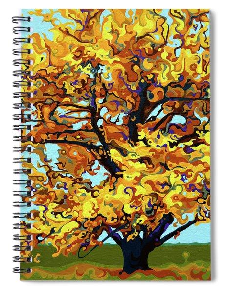 Autumnal Yellow Treet Spiral Notebook