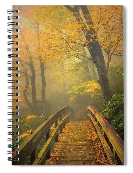 Autumn's Bridge To Heaven Spiral Notebook