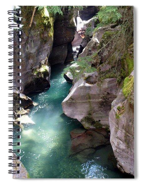 Avalanche Creek Glacier National Park Spiral Notebook