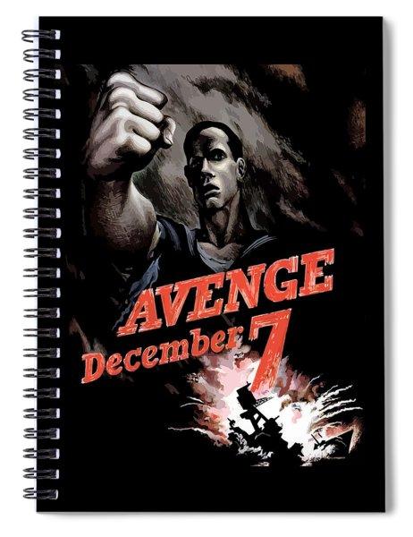 Avenge December 7th Spiral Notebook