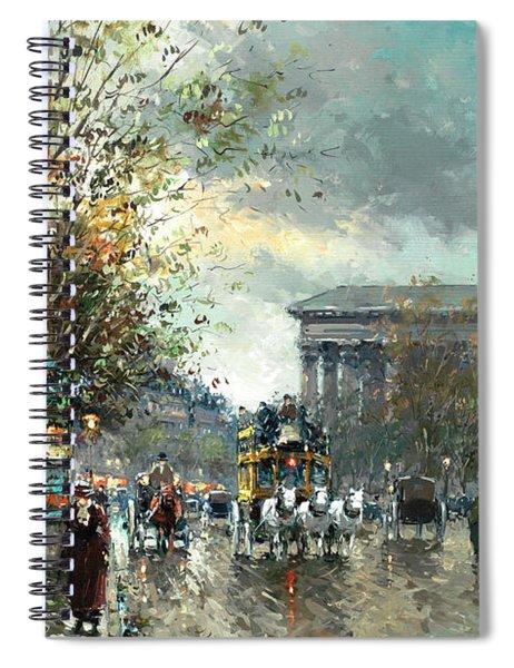 Avenue Des Champs Elysees, Paris Spiral Notebook