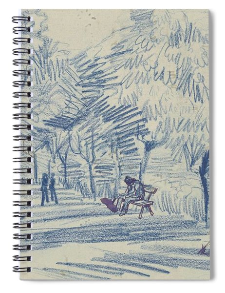 Avenue In A Park Arles, May 1888 Vincent Van Gogh 1853 - 1890 Spiral Notebook