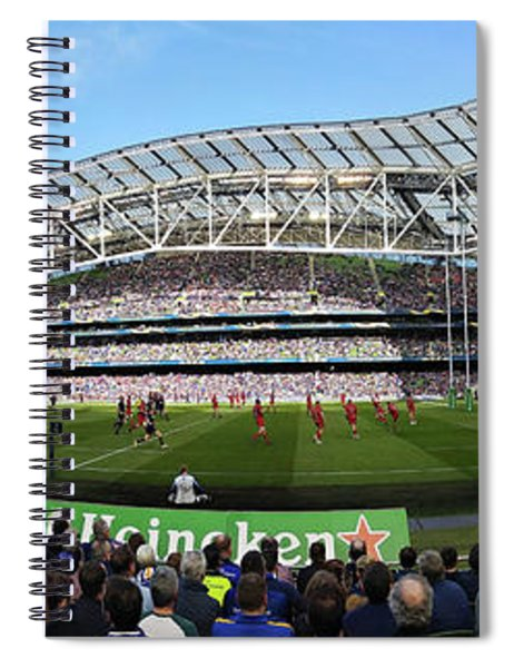 Spiral Notebook featuring the photograph Aviva Stadium Panorama - Dublin by Barry O Carroll
