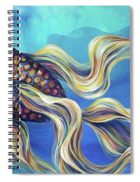 Awaiting Arrival Spiral Notebook
