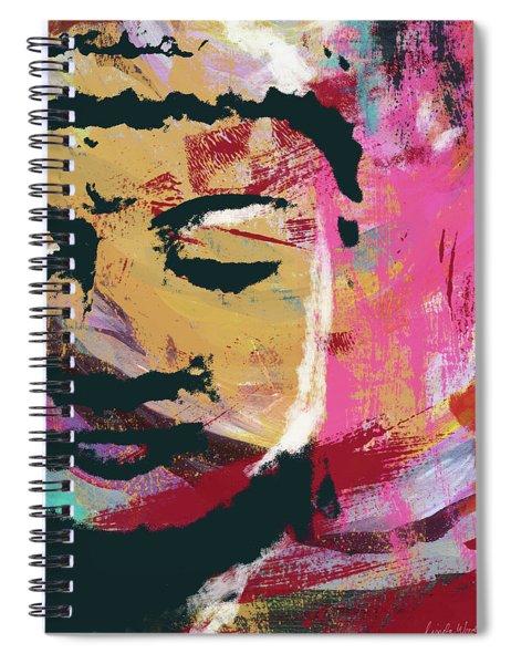 Awakened Buddha 3- Art By Linda Woods Spiral Notebook