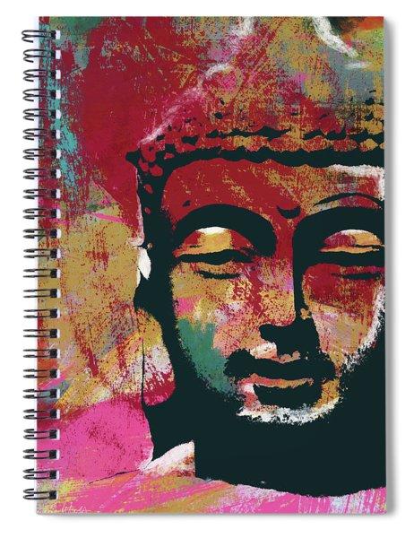Awakened Buddha 4- Art By Linda Woods Spiral Notebook