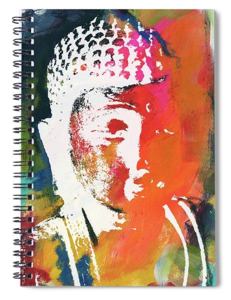 Awakened Buddha 5- Art By Linda Woods Spiral Notebook