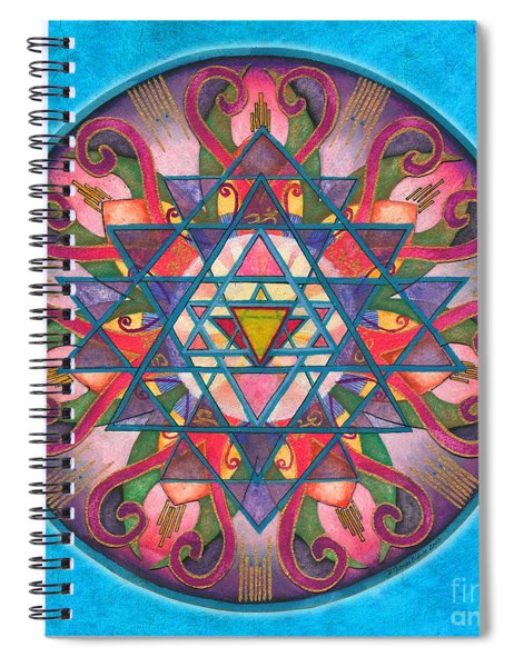 Awareness Mandala Spiral Notebook