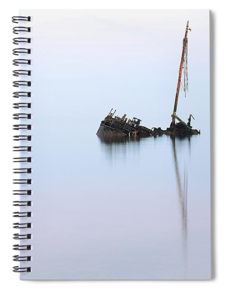 Ayrshire Shipwreck In Sunrise Ref3342 Spiral Notebook