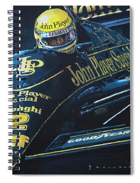 Ayrton Senna Lotus 98t1986 01 Spiral Notebook