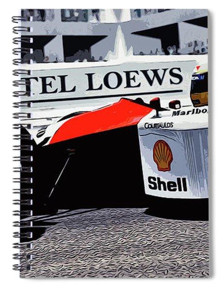 Ayrton Senna - Montecarlo Spiral Notebook