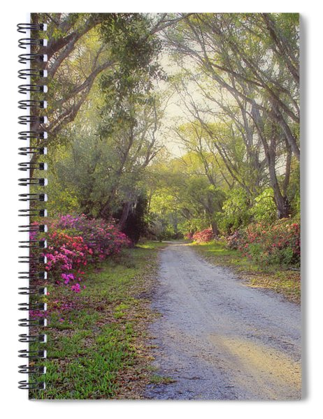 Azalea Lane By H H Photography Of Florida Spiral Notebook