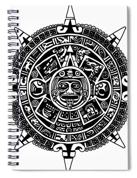 Aztecs Calendar Spiral Notebook
