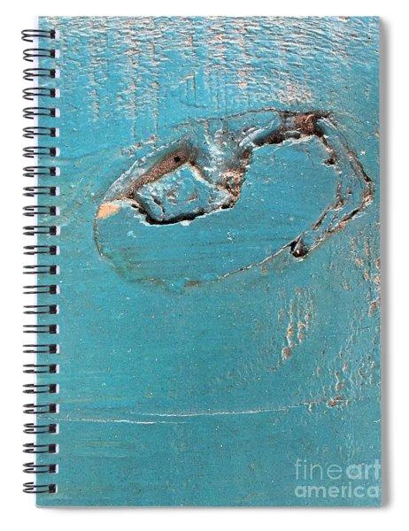 Azure Wood Spiral Notebook