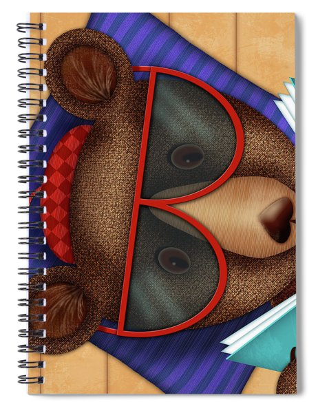 B Is For Brown Bear Spiral Notebook