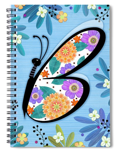 B Is For Butterfly Spiral Notebook