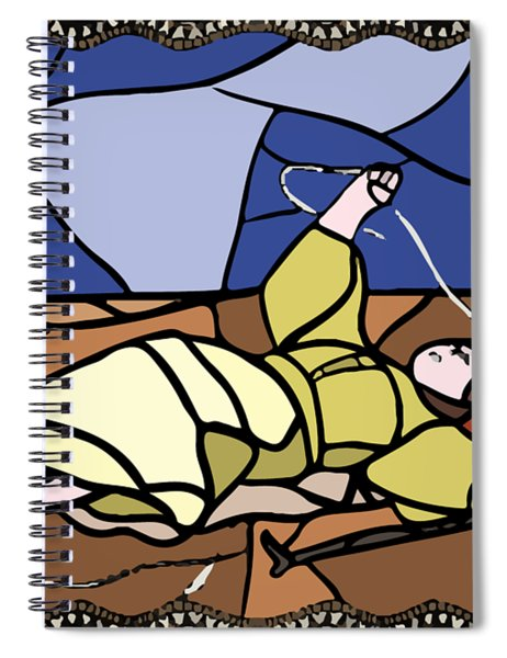 Babie Lato Stained Glass Version Spiral Notebook