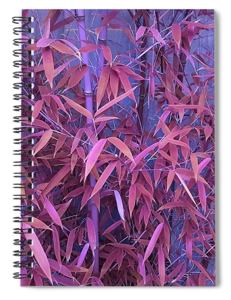 Bamboo Leaves In Spiced Pink Spiral Notebook