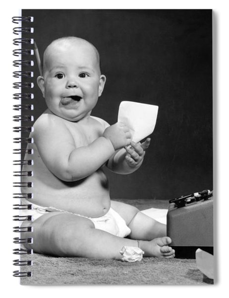 Baby Accountant, 1960s Spiral Notebook
